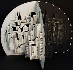 These amazing intricate paper cuttings are created by Amsterdam based artist Ingrid Siliakus