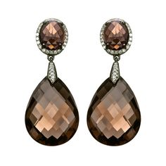 Mystic Light Tear Drop Smokey Quartz Earrings (29.715 RUB) ❤ liked on Polyvore featuring jewelry, earrings, teardrop earrings, tear drop jewelry, tear drop earrings, smokey quartz earrings and smoky quartz earrings
