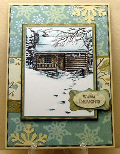 Featuring Impression Obsession's stamp Cabin SKU 667867, available at www.addictedtorubberstamps.com
