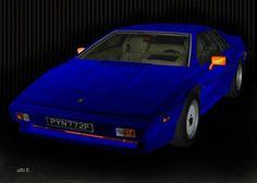 'Lotus Esprit Turbo in black & blue' created by www.Oldtimerphotography.de