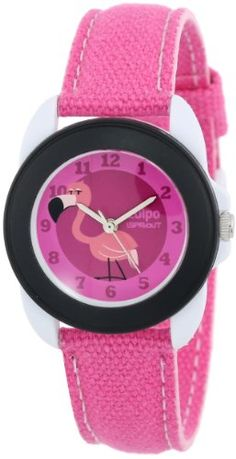 Sprout Unisex SC/1003BKWTPK Easy-to-Read Farrah Flamingo Born Pink Lives Green Dial Pink Organic Cotton Strap Watch Sprout http://www.amazon.com/dp/B00F8YIH4Y/ref=cm_sw_r_pi_dp_LAxlvb1XAKS79