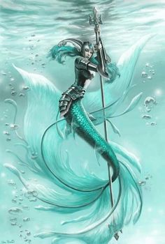 What's your mermaid personality? Image detail for -Splashwoman Picture illustration, fantasy, mermaid, warrior) Fantasy Mermaids, Mermaids And Mermen, Pics Of Mermaids, Evil Mermaids, Magical Creatures, Sea Creatures, Types Of Mermaids, Illustration Fantasy, Mermaid Illustration