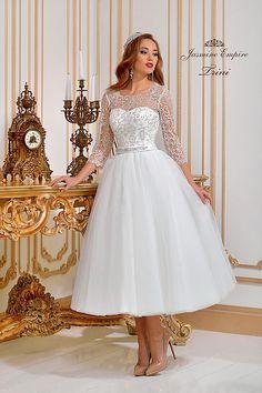 Trini wedding dress by Jasmine Empire wedding brand. Only Italian fabrics, natural pearls, SWAROVSKI stones Girls Dresses, Flower Girl Dresses, Swarovski Stones, Jasmine, Empire, Wedding Dresses, Fabric, Fashion, Dresses Of Girls