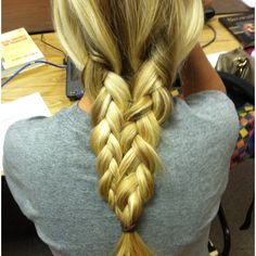 Brittany's hair in a mermaid-braid! So pretty