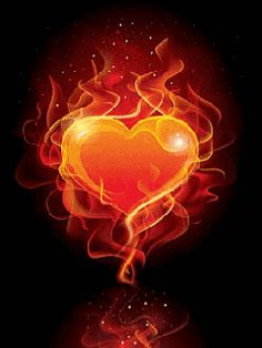 Love fire heart gif