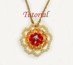 Beading Tutorial  Beaded Sunflower Pendant by Splendere on Etsy, $4.00