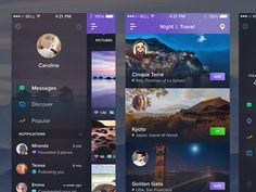 Dribbble - Night&Travel - New Screens by Jan Losert