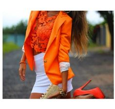 Bright orange goes great with white!