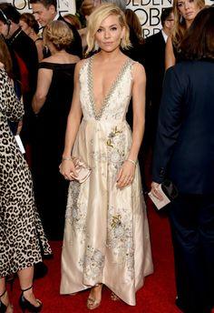 1/11 #シエナ・ミラー Golden Globe Awards 2015  海外セレブ最新画像・私服ファッション・着用ブランドまとめてチェック DailyCelebrityDiary*