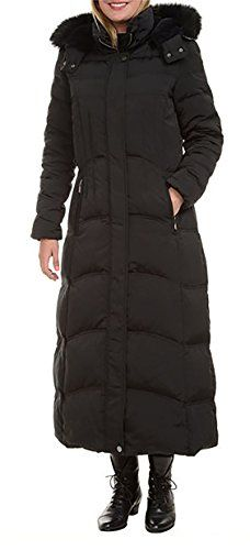 69ac0a544b0 1 Madison Ladies Maxi Down Coat Detachable Faux Fur Hood (Medium