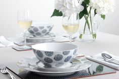 Maxwell & Williams invite you to rediscover simple style with Print Indigo, our latest range of tableware. Print Indigo is influenced by the simplicity of primitive textile art; Maxwell Williams, Bakeware, Simple Style, Kitchenware, Cookware, Indigo, Tea Cups, Porcelain, Plates