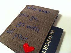 Passport Cover Wherever you go Go with all by destinationhandmade, $14.00