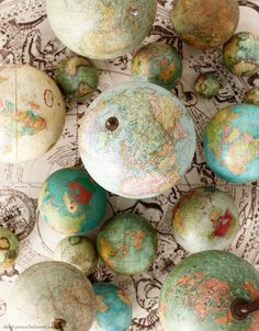 Selection of vintage globes - OFFSET - Photo by David Prince
