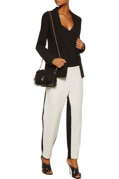 Shop on-sale Proenza Schouler Two-tone double-faced wool-blend straight-leg pants. Browse other discount designer Pants & more on The Most Fashionable Fashion Outlet, THE OUTNET.COM