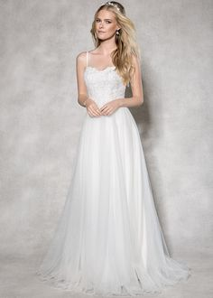 This is our gorgeous 'Capri' gown by Heidi Hudson  Could this pretty wedding dress of soft tulle and lace be 'the one' for you?  www.wed2b.co.uk