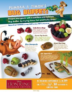 Pumbaa & Timon's Bug Buffet Recipe Ideas for Lion Kings Family Movie Night