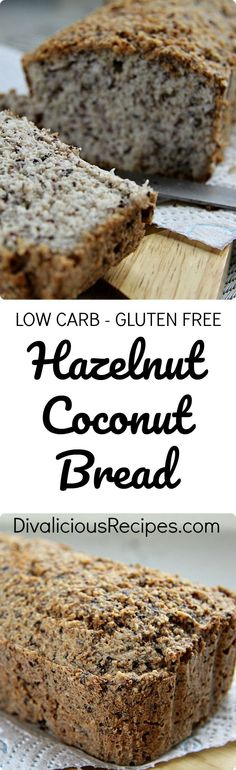 This hazelnut coconut bread is a great way to help you on the path to give up sugar.  It ticks most of the boxes too!  Gluten free, grain free, low carb and Paleo. #lowcarbrecipe #lowcarbbread