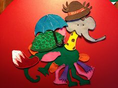 Chameleon Crafts for Preschoolers | Not only does he look silly, but he realizes if he was like all these ...