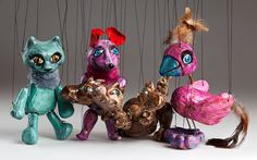 These little cute animal Czech marionettes really deserve your attention. They're handmade of ceramics and they're perfect for display purposes. Puppets, Lion Sculpture, Cute Animals, Pottery, Statue, Christmas Ornaments, Holiday Decor, Creative, Handmade