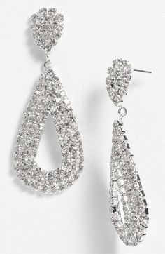 Shine: Rosa Crystal Open Teardrop Earrings #Nordstrom #BP #Prom