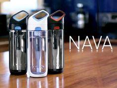 Nava: A Revolutionary Filtering Water Bottle by KOR, via Kickstarter.