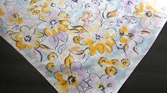 Vintage Handkerchief Burmel Floral Hankie by AllVintageHankies