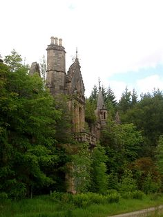 DUNALASTAIR HOUSE, Kinloch Rannoch, Scotland. Abandoned.