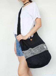 Thai sling bag shoulder bag crossbody bag yaam tote hippie boho bag cotton bag yoga bag totes handma Boho Bags, New Bag, Bag Making, Special Gifts, Crossbody Bag, Yoga, Shoulder Bag, Promotion, Cotton