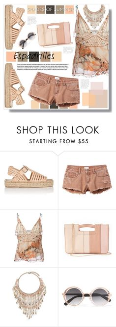 """""""Shades Of Summer"""" by mmk2k ❤ liked on Polyvore featuring Loeffler Randall, RVCA, Christopher Kane, LC Lauren Conrad, Rosantica and Jimmy Choo"""