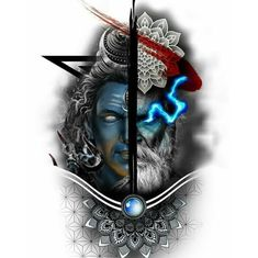 Hindu Tattoos, God Tattoos, Skull Tattoos, Wiccan Tattoos, Indian Tattoos, Shiva Tattoo Design, Sketch Tattoo Design, Tattoo Designs, Tattoo L