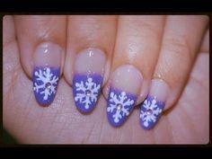 Snowflake Nail Art ~ Christmas Nail Art Tutorial