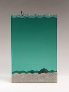 Ben Young Surfing Glass Wave Sculptures Statues Weblink: http://brokenliquid.com/52503/gallery Facebook Page: https://www.facebook.com/benyoungsculpture?ref=br_tf