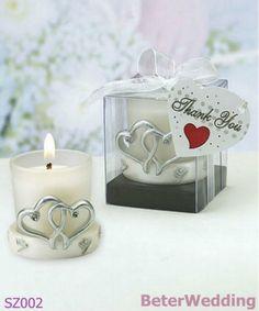 Doppio favore del supporto di candela del cuore/supporto candela di Polyresin SZ002 BeterWedding@ http://www.BeterWedding.com