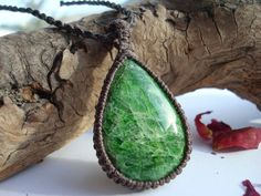 Diopside Necklace/Russian Emerald/Chrome by GaiasGiftsToUs on Etsy