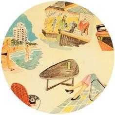 Alexander Henry, Vinyl Vacation Dark Tea