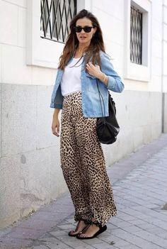 Zara leopard silky trousers
