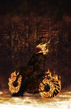 Ghost Rider, by D. Lobo.
