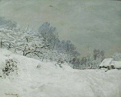 landscape overcast snow painting - Google Search