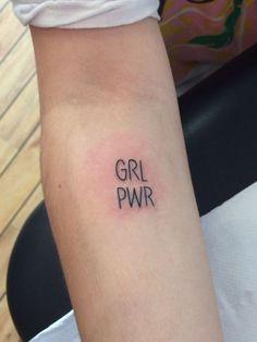 ... power tattoo on Pinterest | Power tattoo Feminist tattoo and Grl pwr