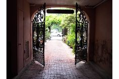 gateway to a home across from the battery and white point gardens in charleston sc