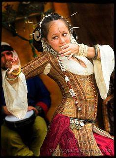 Dancer in Ghawazee coat