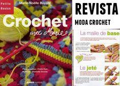 Crochet revista con tutoriales 75 paginas  diferentes tutoriales paso a paso como se ven en la i...