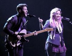 Neon lights tour in Vancouver Nick and Demi :~)