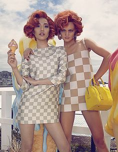 """Hot 'n Cold"" | Models: Rachel Rutt & Seon, Photographer: Shxpir, Harper's Bazaar China, April 2013"