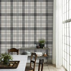 Large cheques in fresh colours which need room to spread out. Modern and a bit cheeky, it blends well with the modern milieu. Decor, Room, Home, Wallpaper, Modern House, Classic Wallpaper, Modern, Inspirational Wallpapers, Wall Coverings