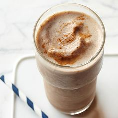 Espresso powder adds a punch of flavor to this crazy-good Coffee Smoothie: http://www.bhg.com/recipes/breakfast/smoothies/healthy-smoothies/?socsrc=bhgpin091314coffeesmoothie&page=2
