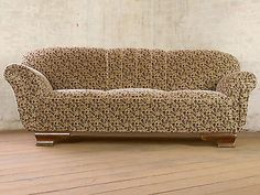 Art deco retro 3-Seater club sofa Daybed Chaise-Bed Couch vintage 30s-40s