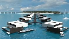 UNITED ISLANDS PROJECT The apartment complex will be located in coastal waters right on Koh Som Island, in the golf of Samui. The project as a whole is founded… Floating Architecture, Green Architecture, Futuristic Architecture, Architecture Design, Design Architect, Concept Architecture, Floating House, Floating Dock, Apartment Complexes