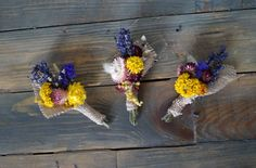 SET OF 3 SMALL boutonniere Wedding boutonniere Flower Boutonniere For Weddings keepsake wedding  lavender  dried flowers ears of cereal by WeddingDesignForYou on Etsy
