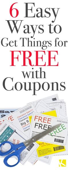 6 Easy Ways to Get Things for Free with Coupons - The Krazy Coupon Lady How To Start Couponing, Couponing For Beginners, Couponing 101, Extreme Couponing, Grocery Coupons, Shopping Coupons, Shopping Hacks, Free Coupons, Printable Coupons